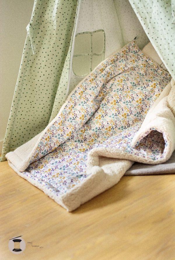 couverture plaid maison bébé confort fait main artisanal