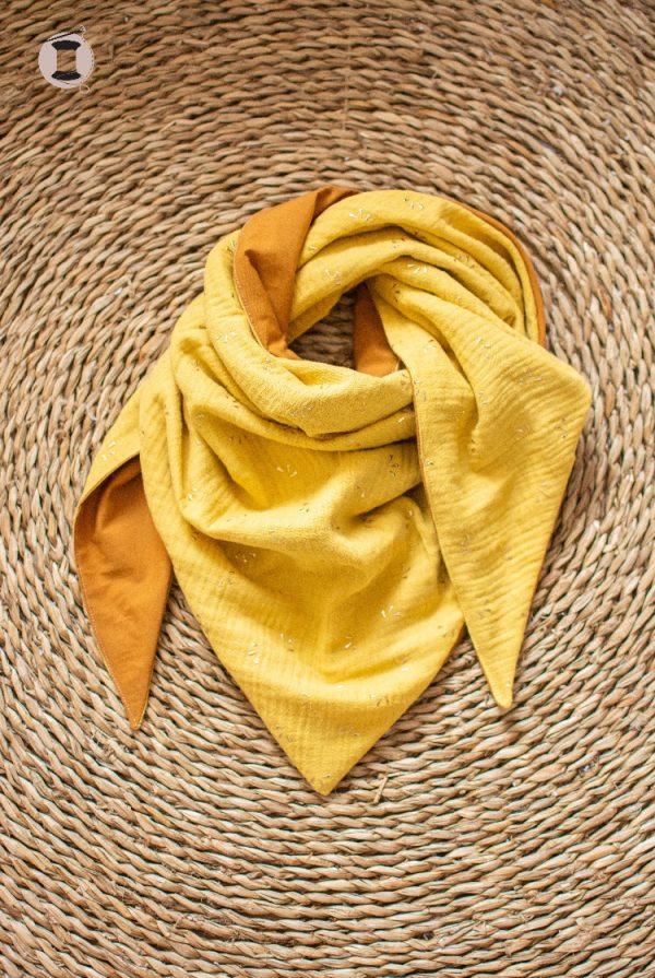 chèche étole foulard fait main artisanal femme fille
