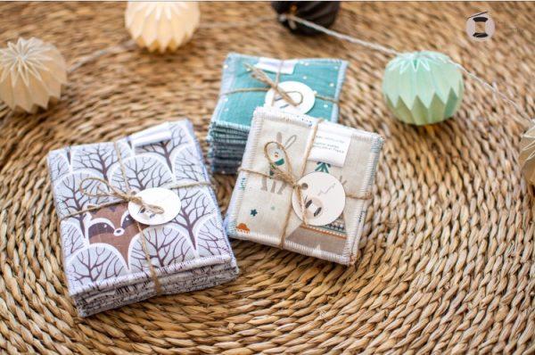 maxi lingettes lavables coton reutilisable fait main