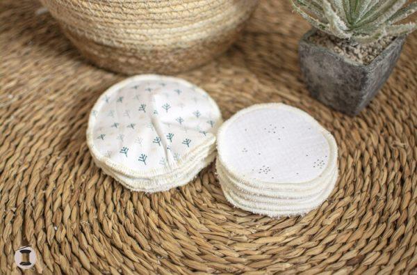 coussinets d'allaitement lavable réutilisable fait main conique forme du sein fait main artisanal