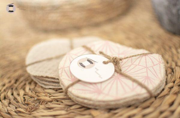 disques lingettes démaquillants lavables fait main artisanale